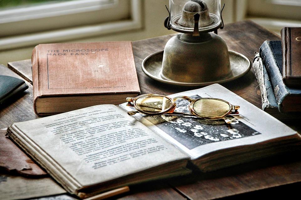 Bureau, Historiquement, Antique, Nostalgie, Papier