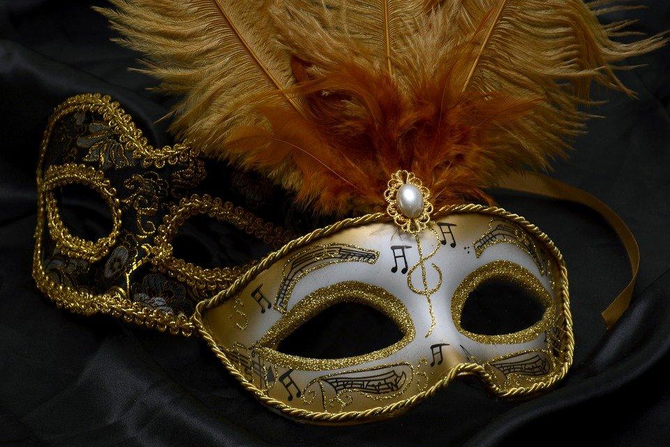 Masque, Carnaval, Venise, Mystérieux, Fermer, Romance