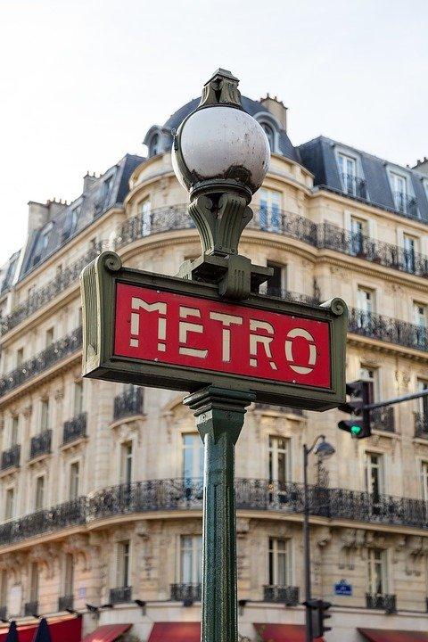 Paris, Métro, Entrée, Inscrivez Vous, De Transport